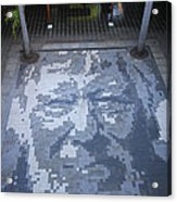 ground mosaic in the cultural center of Granada Nicaragua Acrylic Print