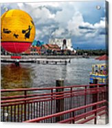 Grounded By The Storm Balloon Ride Walt Disney World Acrylic Print