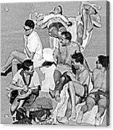 Group Of Men Sunbathing Acrylic Print