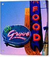 Grove Fine Food Acrylic Print by Gail Lawnicki