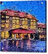 Grove Park Inn Acrylic Print by Elizabeth Coats