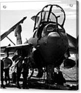 Grumman Ea-6b Prowler B-w Acrylic Print
