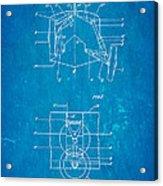 Grumman Retractable Landing Gear Patent Art 1932 Blueprint Acrylic Print by Ian Monk