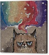 Grumpy Cat And Her Colorful Dreams Acrylic Print
