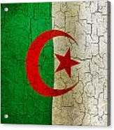 Grunge Algeria Flag Acrylic Print