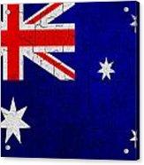 Grunge Australia Flag Acrylic Print
