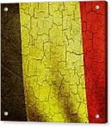 Grunge Belgium Flag Acrylic Print