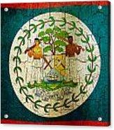 Grunge Belize Flag  Acrylic Print