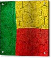 Grunge Benin Flag Acrylic Print