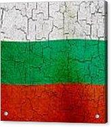 Grunge Bulgaria Flag Acrylic Print