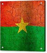 Grunge Burkina Faso Flag Acrylic Print
