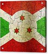 Grunge Burundi Flag Acrylic Print