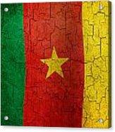 Grunge Cameroon Flag Acrylic Print