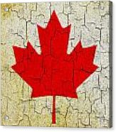 Grunge Canada Flag Acrylic Print