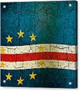 Grunge Cape Verde Flag Acrylic Print