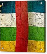 Grunge Central African Republic Flag Acrylic Print