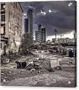 Grunge Cityscape Acrylic Print