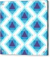 Grunge Colorful Abstract Geometric Acrylic Print