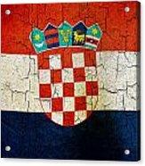 Grunge Croatia Flag Acrylic Print
