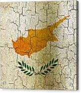 Grunge Cyprus Flag Acrylic Print