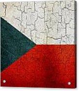 Grunge Czech Republic Flag Acrylic Print