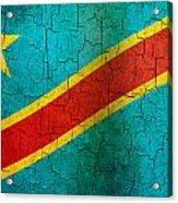 Grunge Democratic Republic Of The Congo Flag Acrylic Print