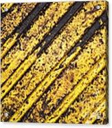 Grunge Dirty Yellow Texture Acrylic Print