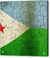 Grunge Djibouti Flag Acrylic Print