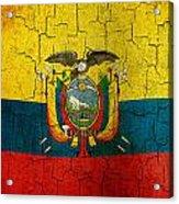 Grunge Ecuador Flag Acrylic Print