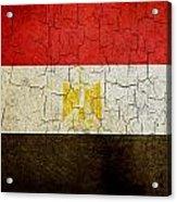 Grunge Egypt Flag Acrylic Print