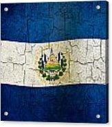 Grunge El Salvador Flag Acrylic Print