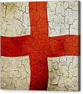 Grunge England Flag Acrylic Print