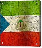 Grunge Equatorial Guinea Flag Acrylic Print
