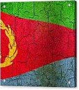 Grunge Eritrea Flag Acrylic Print