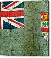 Grunge Fiji Flag Acrylic Print