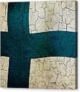 Grunge Finland Flag Acrylic Print