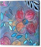 Grunge Floral II Acrylic Print