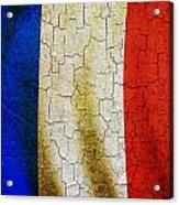 Grunge France Flag Acrylic Print