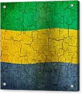 Grunge Gabon Flag Acrylic Print