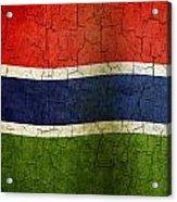 Grunge Gambia Flag Acrylic Print