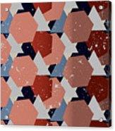 Grunge Geometric Background. Vector Acrylic Print
