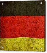 Grunge German Flag Acrylic Print