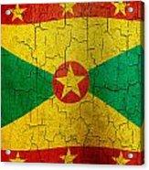 Grunge Grenada Flag Acrylic Print