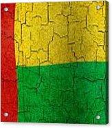Grunge Guinea-bissau Flag Acrylic Print