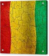 Grunge Guinea Flag Acrylic Print