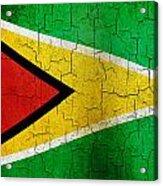 Grunge Guyana Flag Acrylic Print