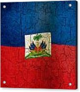 Grunge Haiti Flag  Acrylic Print