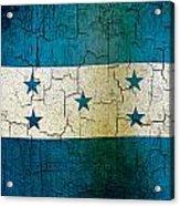 Grunge Honduras Flag Acrylic Print