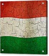 Grunge Hungary Flag Acrylic Print