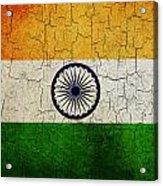 Grunge India Flag Acrylic Print